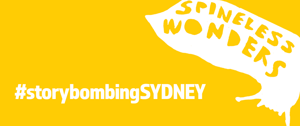 Spineless Wonders logo and #storybomingSYDNEY