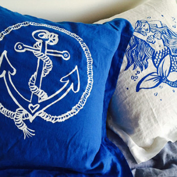 Anchor and Mermaid Cushion Designs
