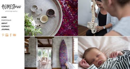 Wordpress website design by BKAD for Homestories photography portfolio