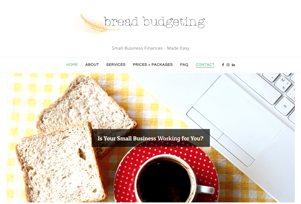 Website design and restructure by BKAD for Bread Budgeting
