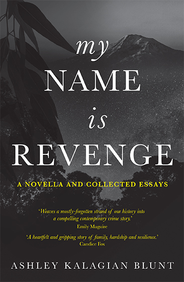 Cover design for My Name is Revenge, a novella by Ashley Kalagian Blunt