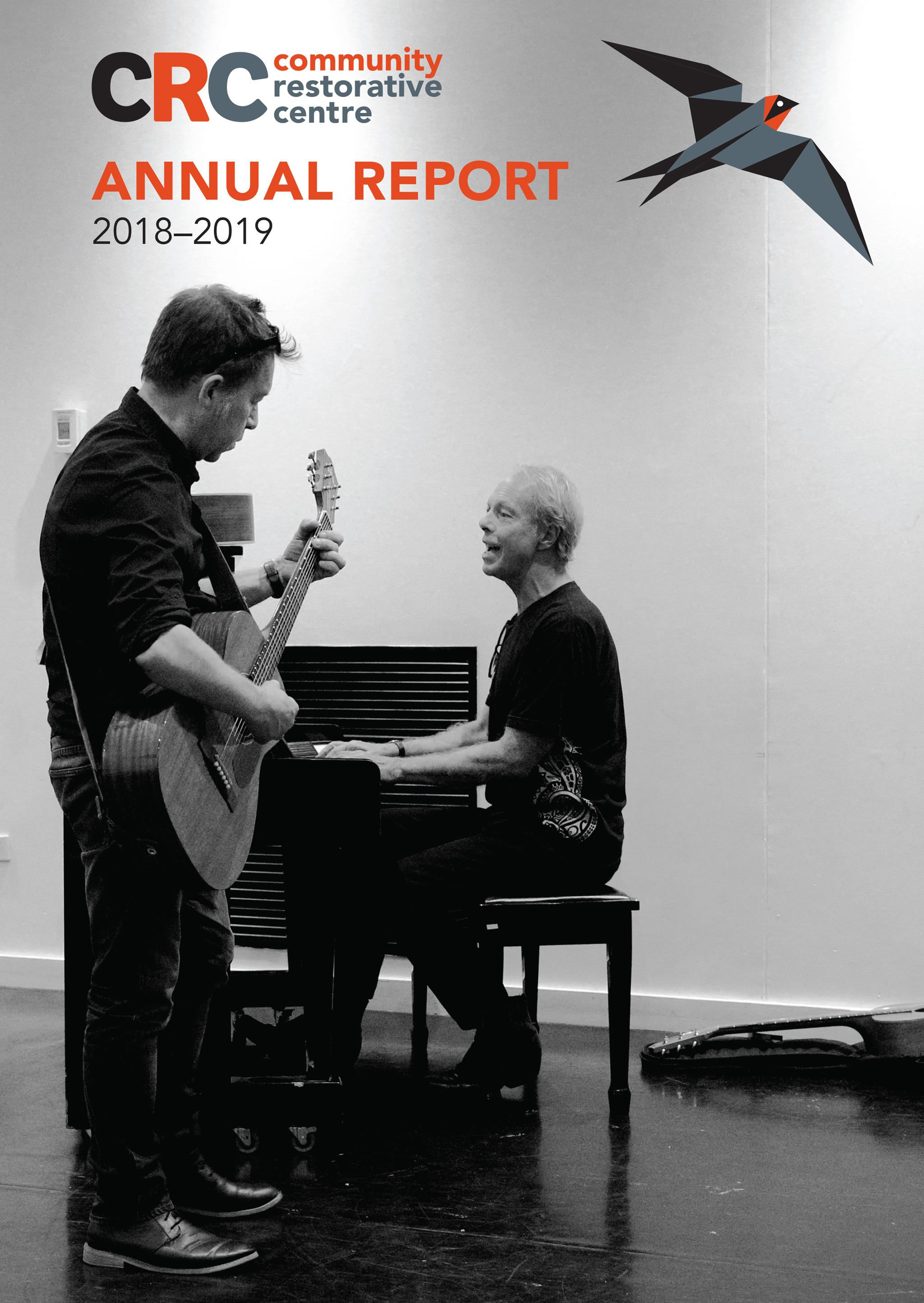 CRC Annual Report Design 2018/19 Frontpage